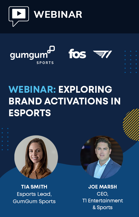 Webinar graphic depicting sports brand activations and connecting with esports fans